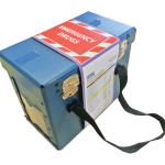 blue emergency drugs box