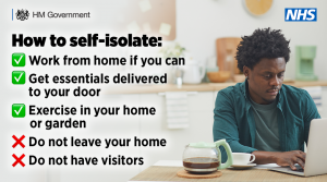 How to self-isolate poster